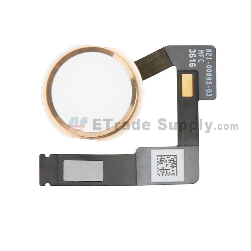 For Apple iPad Pro 10.5 Home Button Assembly with Flex Cable Ribbon Replacement - Gold - Grade S+
