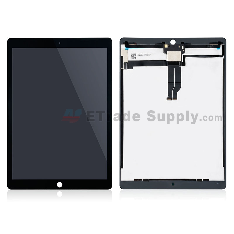 For Apple iPad Pro 12.9 LCD Screen and Digitizer Assembly Replacement (With OEM IC Board) - Black - Grade S+