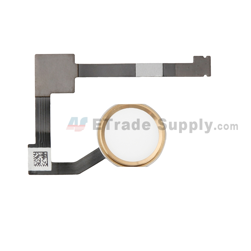 For Apple iPad Pro 12.9 Home Button Assembly with Flex Cable Ribbon Replacement - Gold - Grade S+