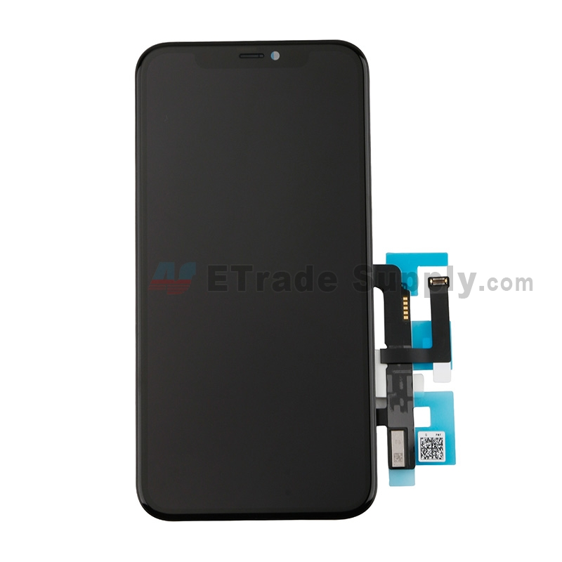 For Apple iPhone 11 LCD Screen and Digitizer Assembly with Frame Replacement - Black - Grade S+