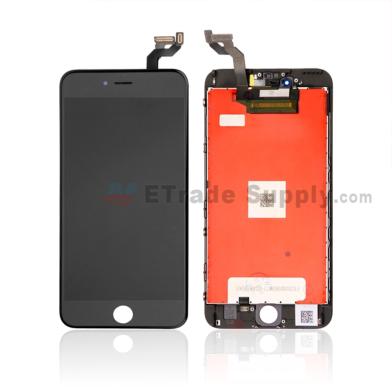 For Apple iPhone 6S Plus LCD Screen and Digitizer Assembly with Frame Replacement - Black - Grade S+