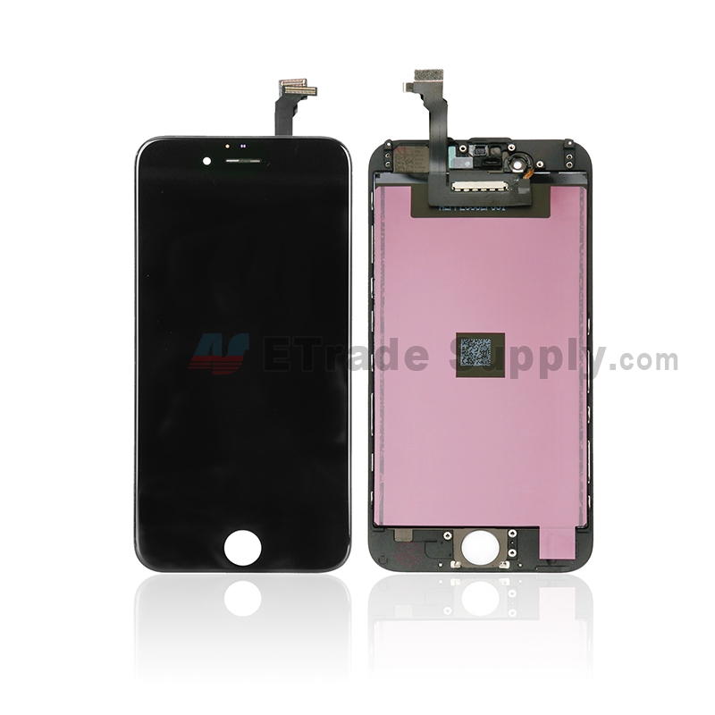 For Apple iPhone 6 LCD Screen and Digitizer Assembly with Frame Replacement - Black - Grade A