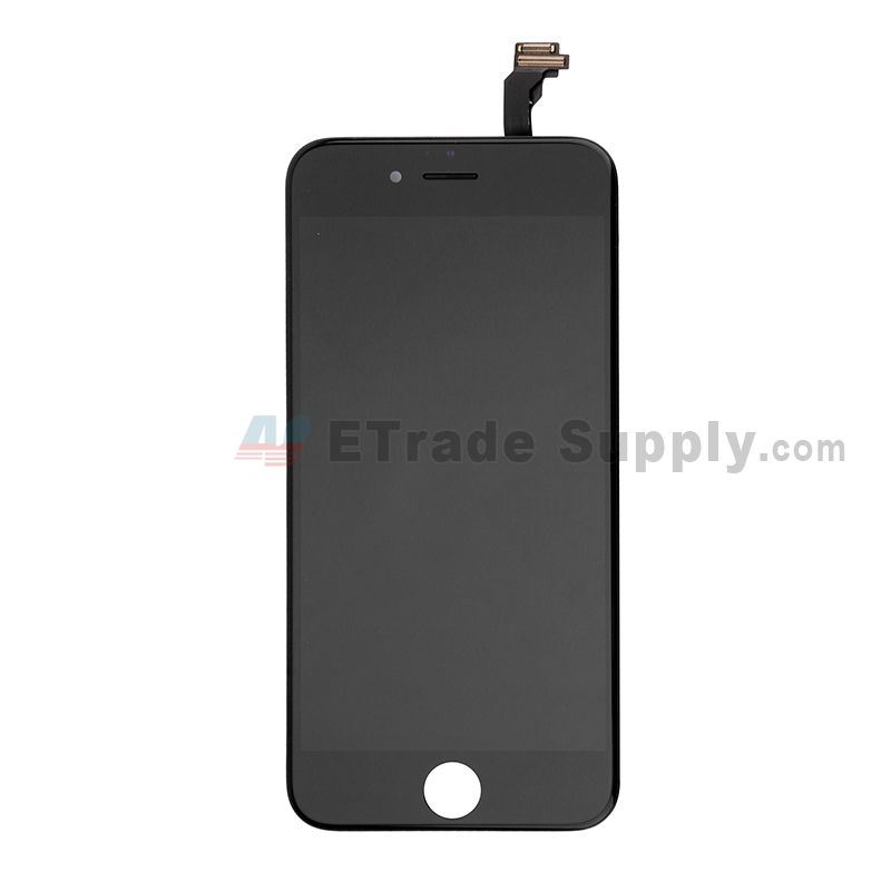 For Apple iPhone 6 LCD Screen and Digitizer Assembly with Frame Replacement - Black - Grade S