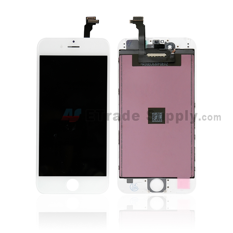 For Apple iPhone 6 LCD Screen and Digitizer Assembly with Frame Replacement - White - Grade A