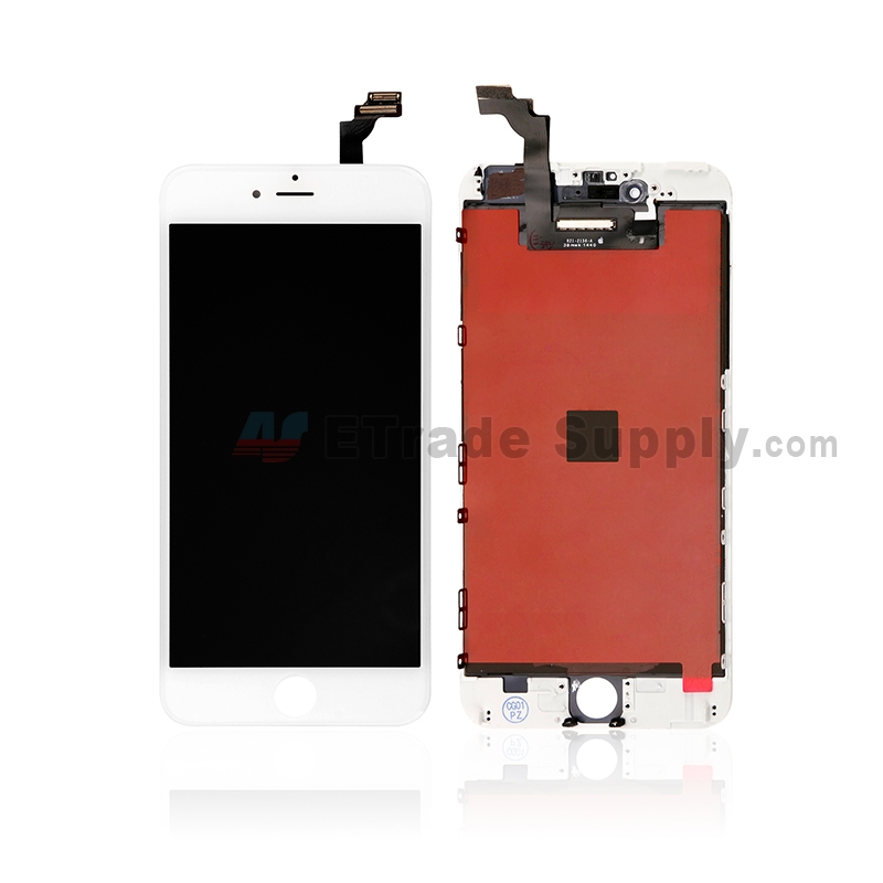 For Apple iPhone 6 Plus LCD Screen and Digitizer Assembly with Frame Replacement - White - Grade S+