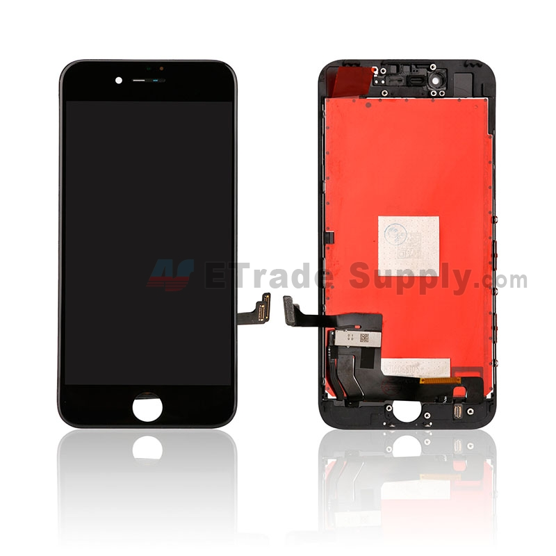 For Apple iPhone 7 LCD Screen and Digitizer Assembly with Frame Replacement - Black - Grade R