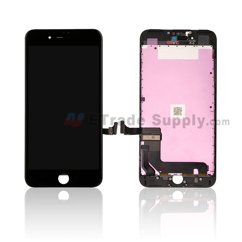 For Apple iPhone 7 Plus LCD and Digitizer Assembly with Frame Replacement - Black - Grade S+