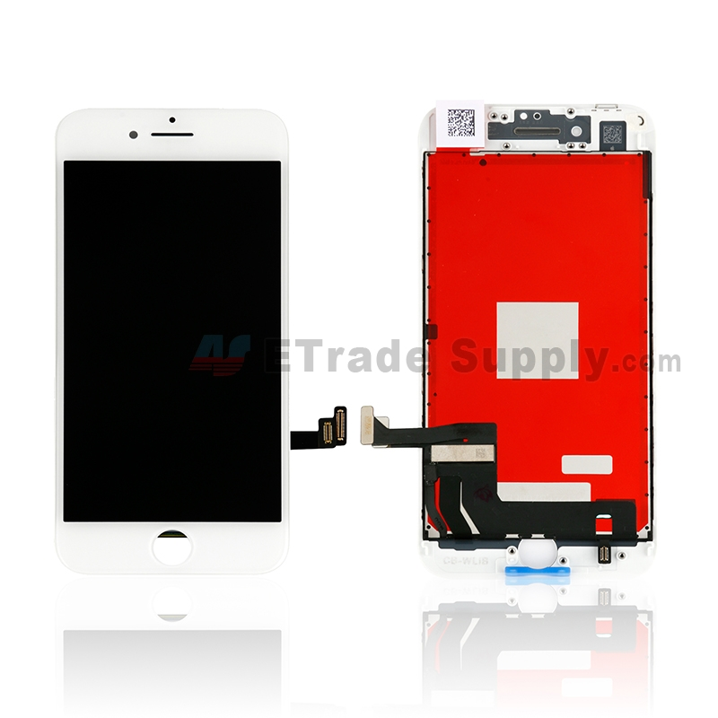 For Apple iPhone 8 LCD Screen and Digitizer Assembly with Frame Replacement - White - Grade S+