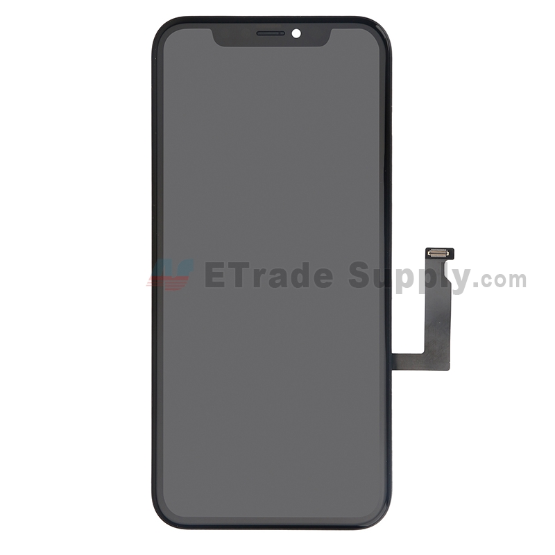 For Apple iPhone XR LCD Screen and Digitizer Assembly with frame Replacement - Black - Grade S+