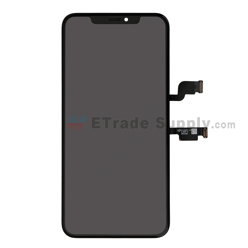 For Apple iPhone XS Max LCD Screen and Digitizer Assembly with Frame Replacement - Black - Grade S