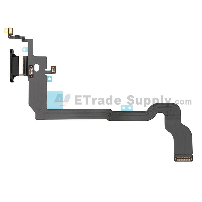 For Apple iPhone X Charging Port Flex Cable Ribbon Replacement - Black - Grade S+