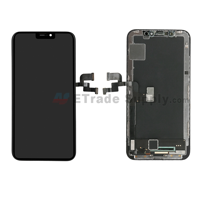 For Apple iPhone X OLED Screen and Digitizer Assembly with Frame Replacement - Black - Grade S