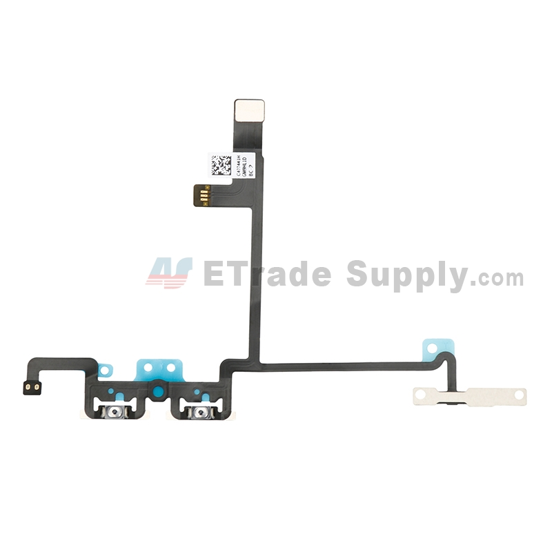 For Apple iPhone X Volume Button Flex Cable Ribbon Replacement - Grade S+