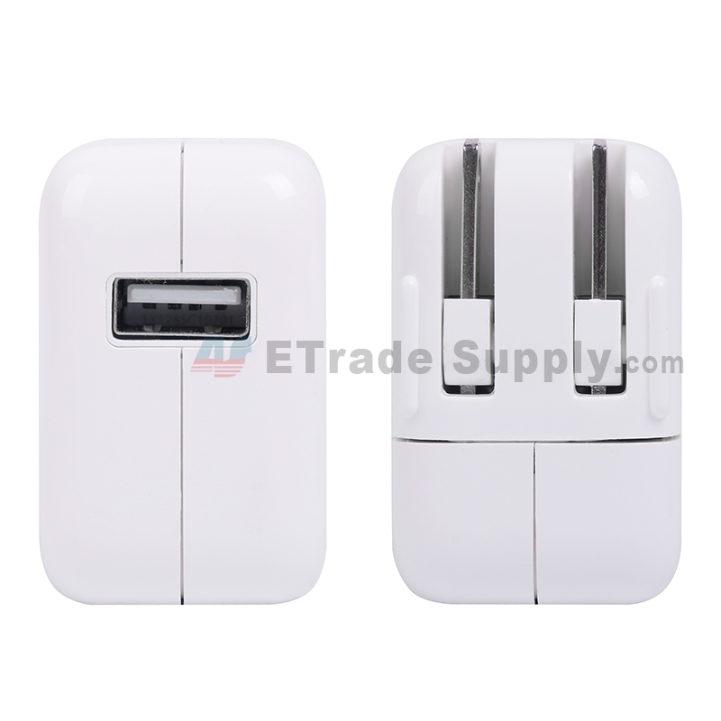 For Apple iPod Touch Series, iPhone Series, iPad Series Charger (US Plug, 12W) - White - Grade S