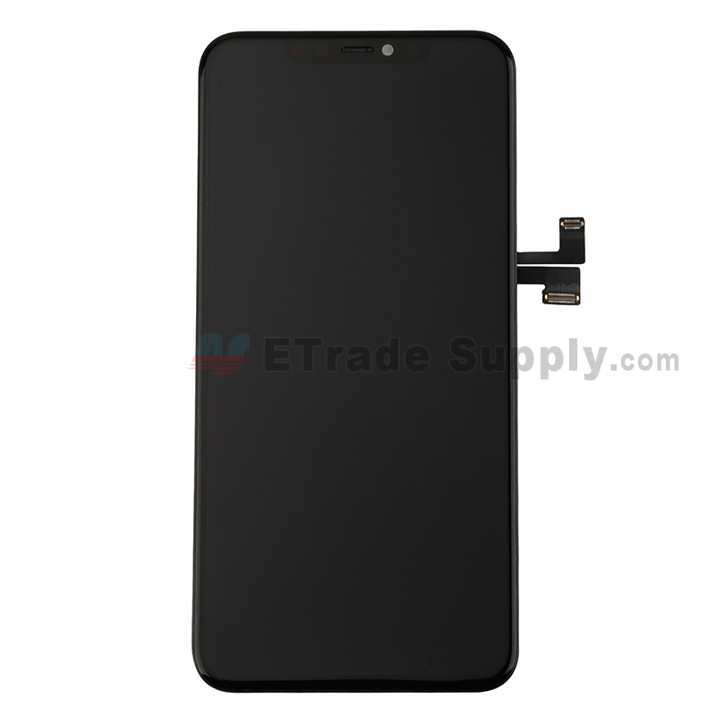 For Apple iphone 11 Pro Max LCD Screen and Digitizer Assembly with Frame Replacement - Black - Grade S+