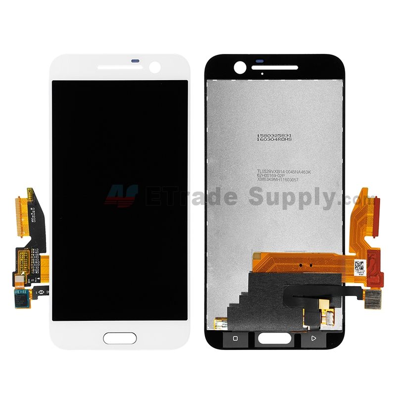 For HTC 10 LCD Screen and Digitizer Assembly Replacement - White - Without Logo - Grade S+