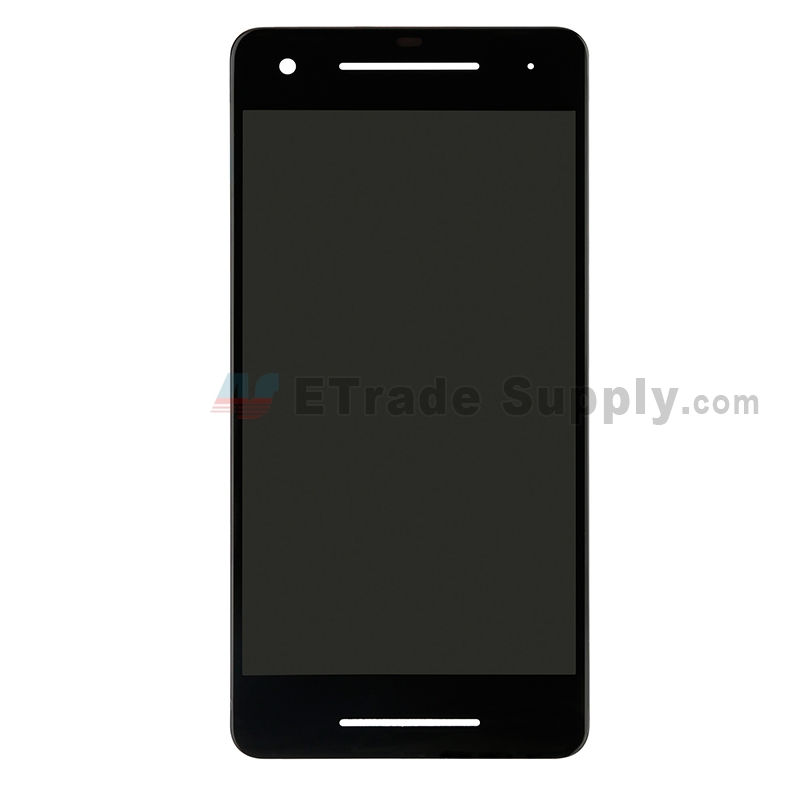For HTC Google Pixel 2 LCD Screen and Digitizer Assembly Replacement - Black - Grade S+