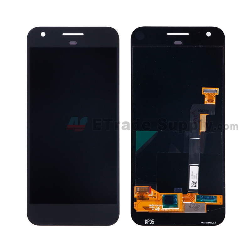 For HTC Google Pixel LCD Screen and Digitizer Assembly Replacement - Black - Without Any Logo - Grade S+
