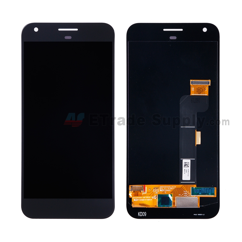 For HTC Google Pixel XL LCD Screen and Digitizer Assembly Replacement - Black - Without Any Logo - Grade S+