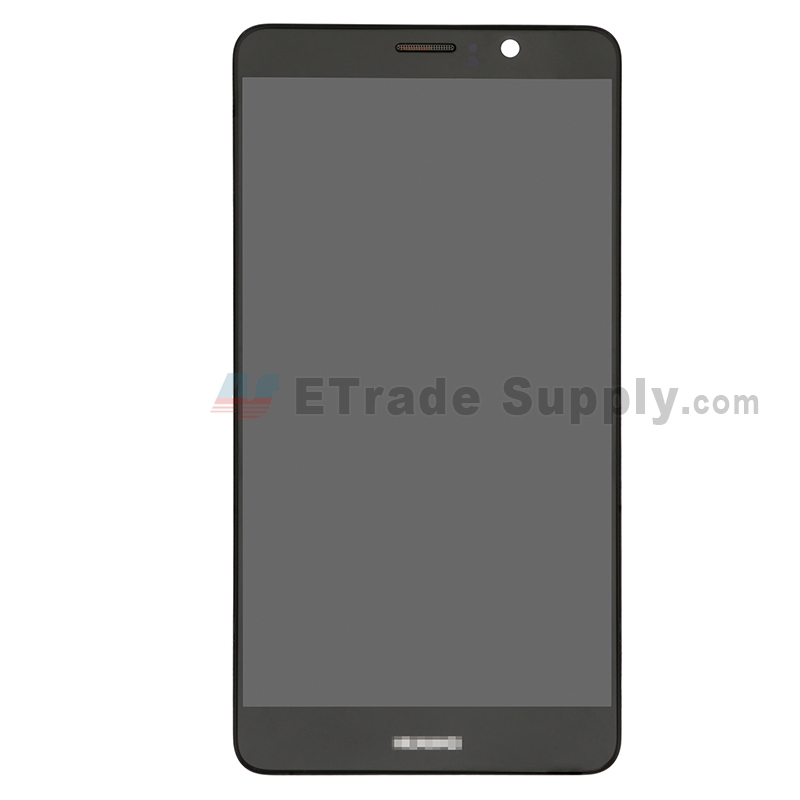 For Huawei Mate 9 LCD Screen and Digitizer Assembly with Front Housing Replacement - Black - With Logo - Grade S+