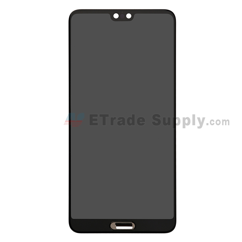 For Huawei P20 LCD Screen and Digitizer Assembly Replacement - Black - Without Logo - Grade S+