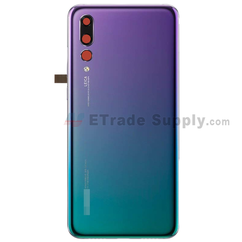 For Huawei P20 Pro Battery Door Replacement - Twilight - With Logo - Grade S+