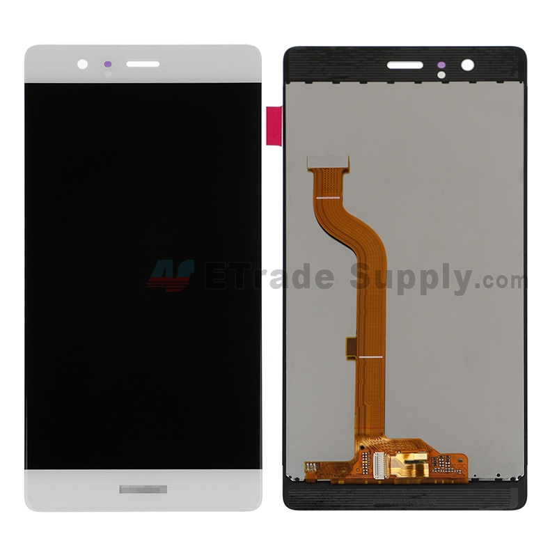 For Huawei P9 LCD Screen and Digitizer Assembly Replacement - White - With Logo - Grade S+