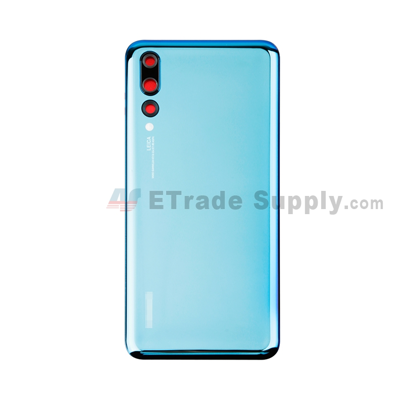 For Huawei P20 Pro Battery Door Replacement - Blue - With Logo - Grade S+