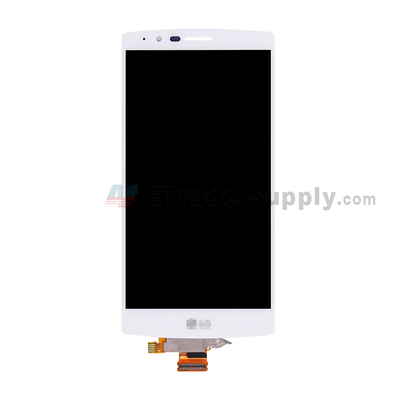 For LG G4 H815/F500/H810/H811/H812/LS991 LCD Screen and Digitizer Assembly Replacement - White - With Logo - Grade S