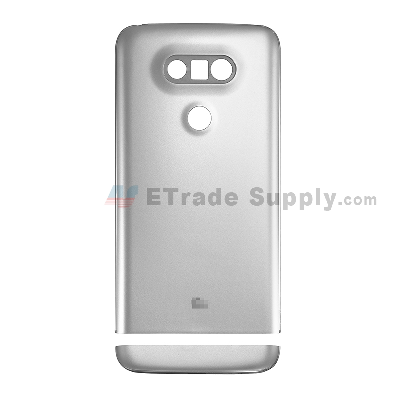 For LG G5 H840/H850 Rear Housing and Bottom Cover Replacement - Silver - With Logo - Grade S+