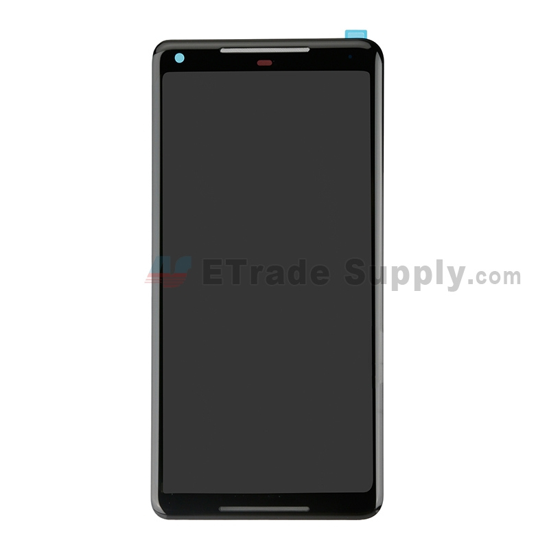 For LG Google Pixel 2 XL LCD Screen and Digitizer Assembly Replacement - Black - Grade S+
