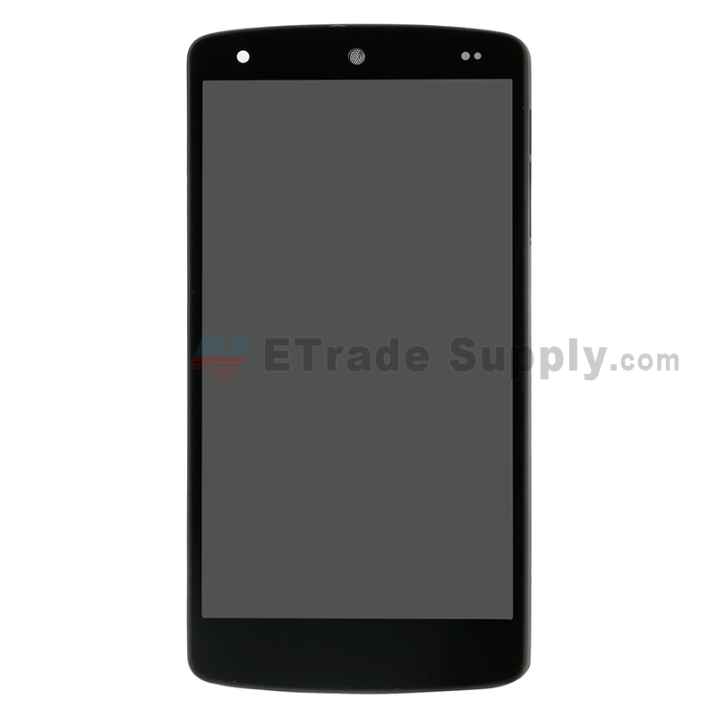 For LG Nexus 5 D820 LCD and Digitizer Assembly with Front Housing Replacement (No Small Parts, Black Mesh Cover) - Black - Without Any Logo - Grade S+