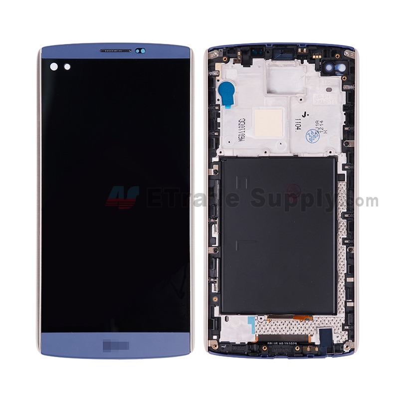 For LG V10 H900/H901 LCD Screen and Digitizer Assembly with Front Housing Replacement (Without Small Parts) - Blue - with Logo - Grade S+
