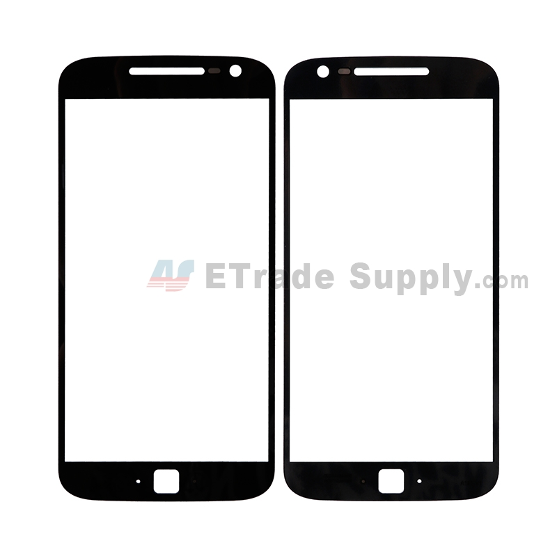 For Motorola Moto G4 Plus Glass Lens Replacement - Black - Without Any Logo - Grade R