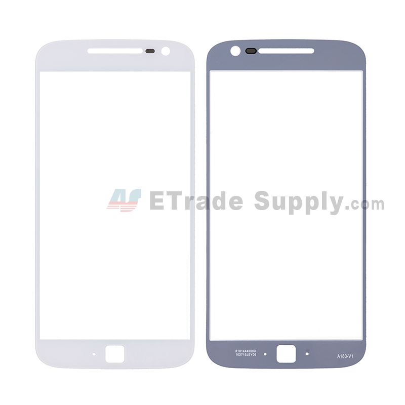 For Motorola Moto G4 Plus Glass Lens Replacement - White - Without Any Logo - Grade R
