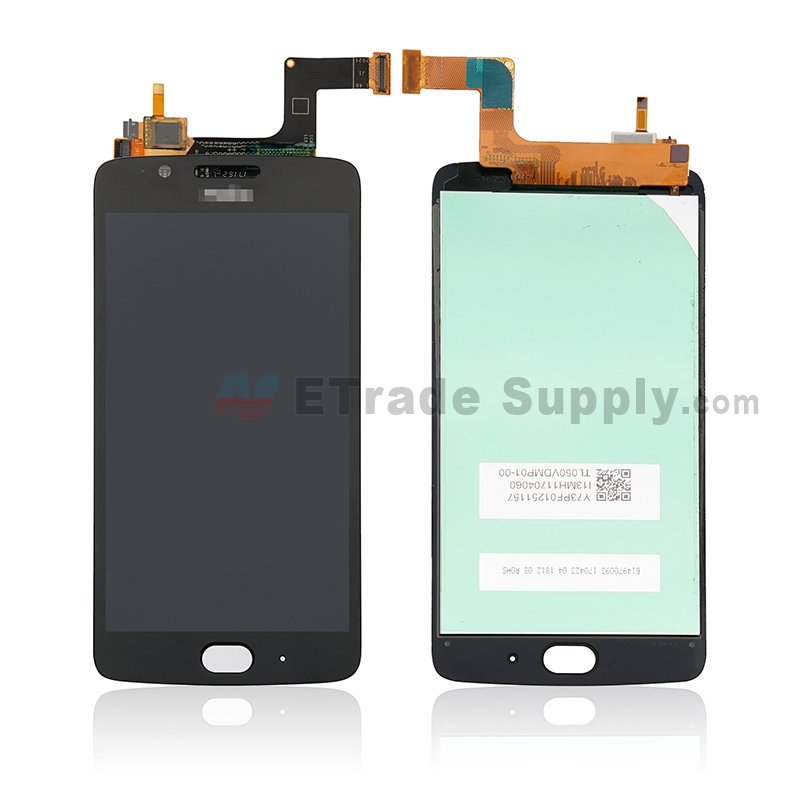For Motorola Moto G5 LCD Screen and Digitizer Assembly Replacement - Black - With Logo - Grade S+