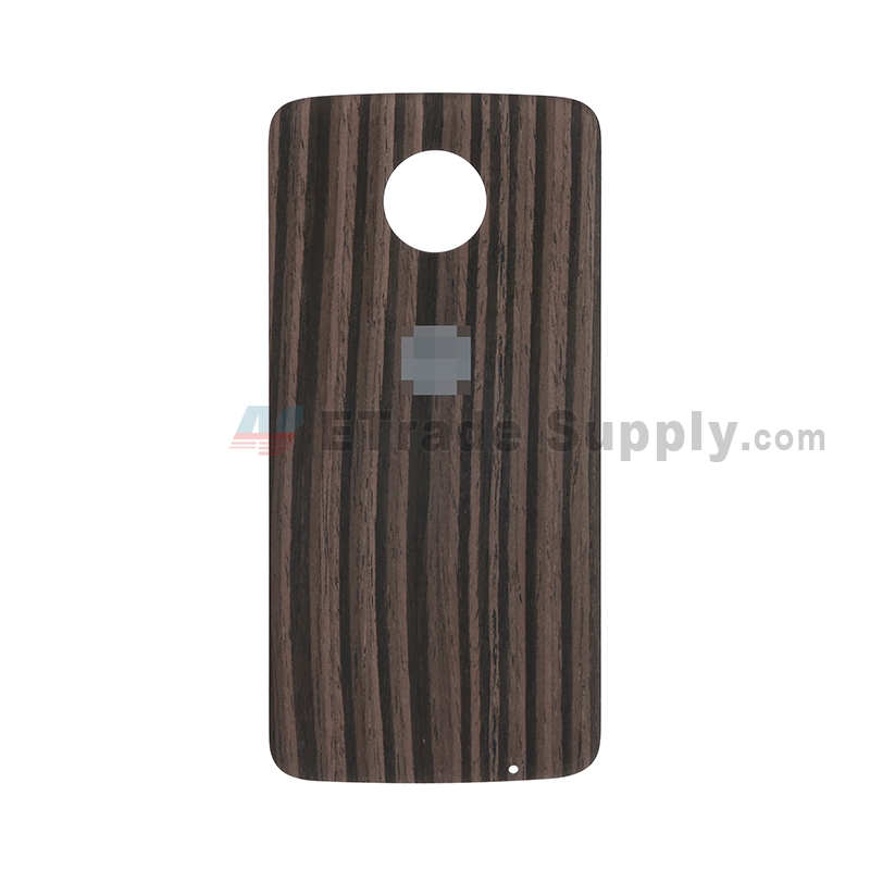 For Motorola Moto Z XT1650 Battery Door Replacement - Ebony - With Logo - Grade S+