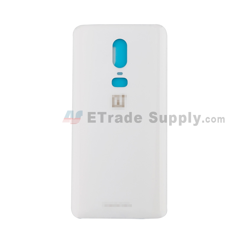 For OnePlus 6 Battery Door Replacement - Silk White - Grade R