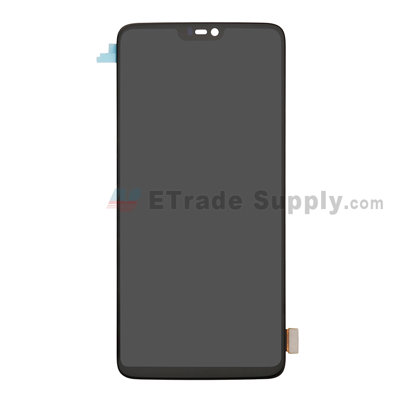 For OnePlus 6 LCD Screen and Digitizer Assembly Replacement - Black - Without Logo - Grade S+