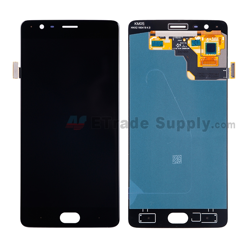 For OnePlus Three LCD Screen and Digitizer Assembly Replacement (A3003 Version) - Black - Without Logo - Grade S+