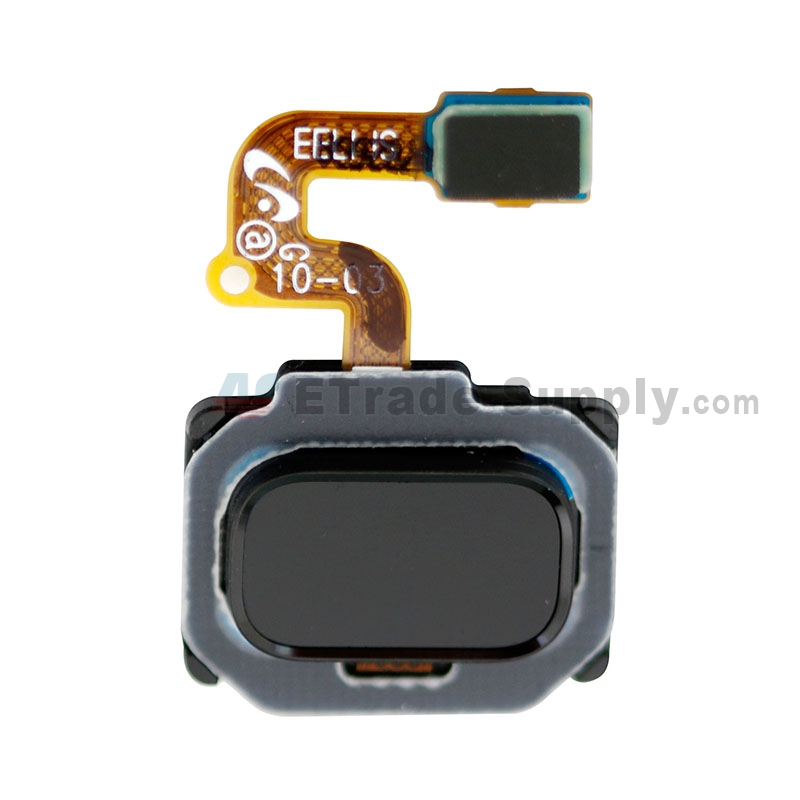 For Samsung Galaxy Note 8 N950U Home Button with Flex Cable Ribbon Replacement - Black - Grade S+