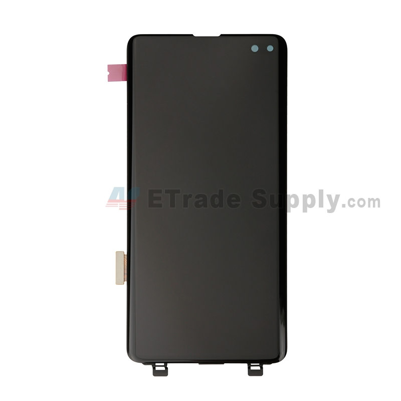 For Samsung Galaxy S10 Plus Series LCD Screen and Digitizer Assembly Replacement - Black - Without Logo - Grade S+