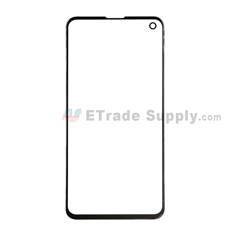 For Samsung Galaxy S10e Series Glass Lens Replacement - Black - Without Logo - Grade S+