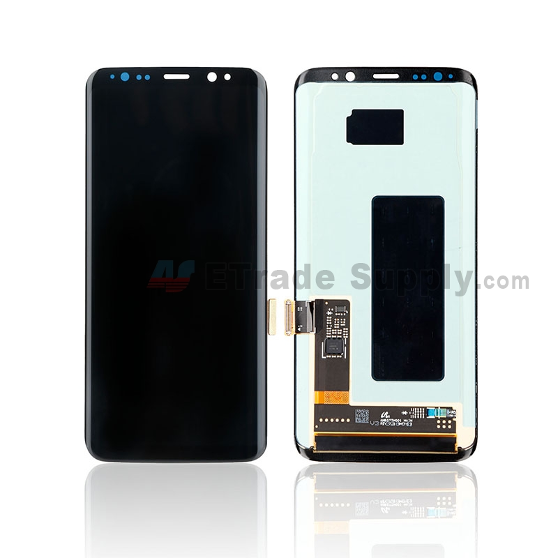 For Samsung Galaxy S8 G950U/G950A/G950V/G950T/G950P LCD Screen and Digitizer Assembly Replacement - Black - Without Logo - Grade S+