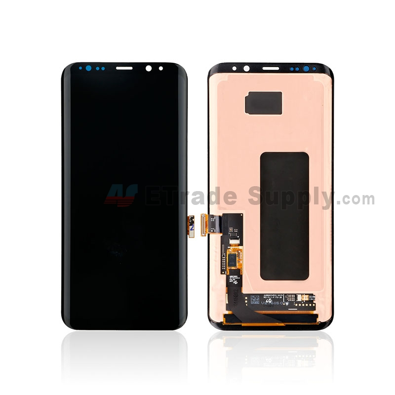For Samsung Galaxy S8 Plus G955A/G955P/G955T/G955V/G955U LCD Screen and Digitizer Assembly Replacement - Black - Without Logo - Grade S+