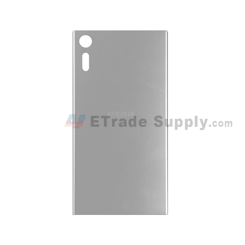 For Sony Xperia XZ Battery Door Replacement - Silver - With Logo - Grade S+