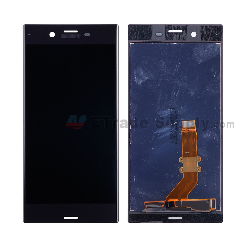 For Sony Xperia XZ LCD Screen and Digitizer Assembly Replacement - Black - With Logo - Grade S+