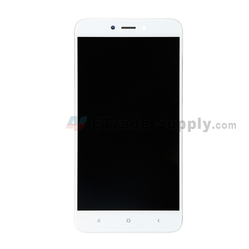 For Xiaomi Redmi 4X LCD Screen and Digitizer Assembly with Front Housing Replacement - White - Without Logo - Grade S+