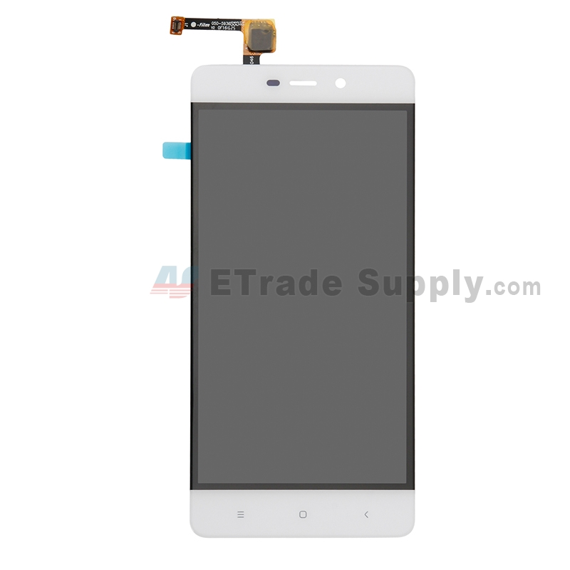 For Xiaomi Redmi 4 LCD Screen and Digitizer Assembly Replacement - White - Without Logo - Grade S+