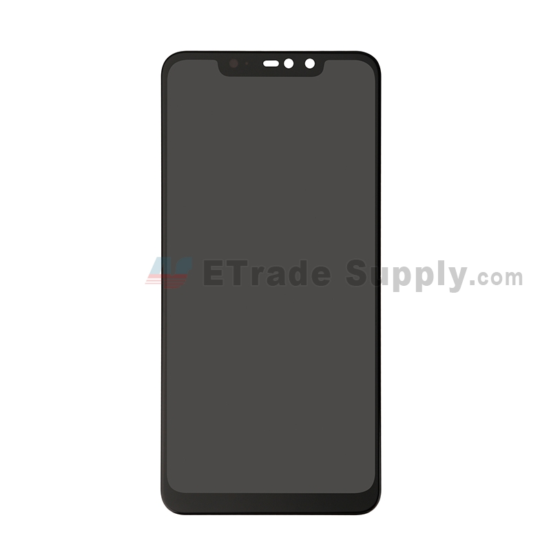 For Xiaomi Redmi Note 6 Pro LCD Screen and Digitizer Assembly Replacement - Black - Grade S+